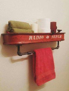 Do It Yourself Solar Electricity For Your House Boys Bathroom. Repurposed Vintage Red Radio Flyer Wagon By Theprimitiveprogress Repurposed Items, Repurposed Furniture, Handmade Furniture, Industrial Furniture, Diy Furniture Repurpose, Ikea Industrial, Industrial Closet, Industrial Shop, Industrial Bookshelf