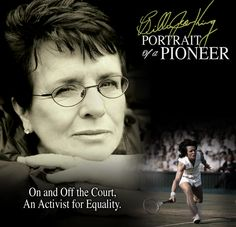 BILLIE JEAN KING - a great tennis player but even more importantly a pioneer who made title IX happen and who changed the lives of every girl who has played sports since. A true sports hero and legend. Masters Swimming, Billy Jean, Wise One, Tennis Legends, Billie Jean King, Love People, Beautiful People, Straight Guys, Health Articles