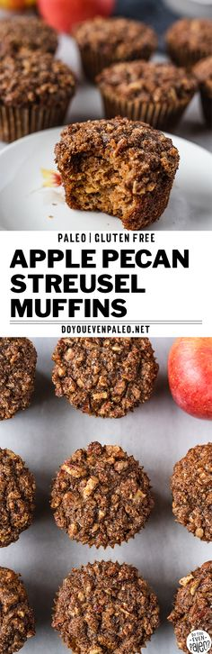 Paleo Apple Pecan Streusel Muffins – Comforting, warm gluten free muffins that a… – Low Carb Pecan Recipes Best Paleo Recipes, Pecan Recipes, Healthy Low Carb Recipes, Real Food Recipes, Yummy Food, Favorite Recipes, Baking Recipes, Free Recipes, Vegetarian Desserts
