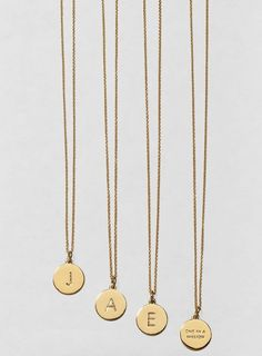 The girls will love these dainty Kate Spade 'one in a million' initial pendant necklaces.