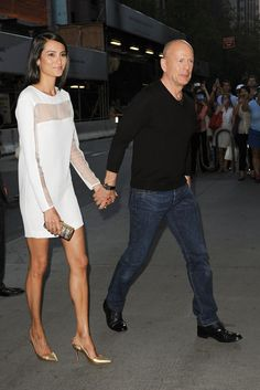 Emma Heming and Bruce Willis attending the screening of Red 2 at MOMA in New York City - July 16, 2013 - Photo: Runway Manhattan