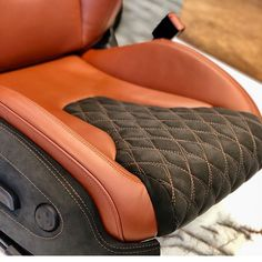 seats trimmed by Car Interior Upholstery, Automotive Upholstery, Custom Car Interior, Truck Interior, Custom Car Seats, Custom Cars, Audi Tt, 1954 Chevy Truck, Mazda