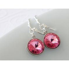 Swarovski Rivoli Earrings ($25) ❤ liked on Polyvore featuring jewelry, earrings and earring jewelry