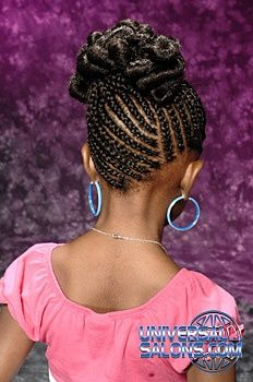 Beautiful Braided Natural Hair Little Girl Braids, Braids For Kids, Girls Braids, Little Girl Hairstyles, Kids Hairstyle, Hairstyle Pictures, African Braids Hairstyles, African American Hairstyles, Braided Hairstyles