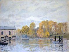 Alfred Sisley - Waterworks at Marly [1876] Boston MFA