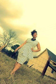 JIBRI Plus Size High Waist Pencil Skirt Window Pane by jibrionline, $110.00