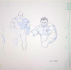 Hulk Sketches by Esad Ribic Comic Art