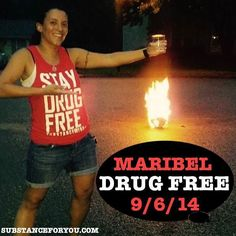 The funnest way to stay sober like Maribel @Maribel4677 is to dance around a fire screaming STAY DRUG FREE! Isn't that right???? I agree! Great job Maribel you truly know how to show the clean life is amazing especially with that great smile! YOU GO GIRL!!! CONGRATS!!   To get STAY DRUG FREE merch like Maribel click the link in our bio to redirect to our site now! SubstanceForYou.com   #recoveryispossible #sober #soberlife #sobriety #sobermovement #Soberissexy #partysober #recovery…