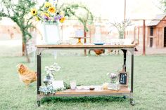 Rustic Farm Dessert table. Photo by Lauren Buman Photography. Desserts by sift bakehouse out of Phoenix, Arizona.