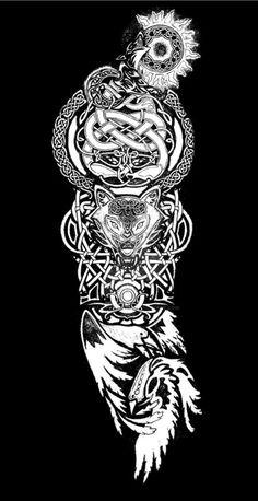 Dein Arm, – # Check more at – Norse Mythology-Vikings-Tattoo Viking Tattoo Sleeve, Viking Tattoo Symbol, Wolf Tattoo Sleeve, Norse Tattoo, Forearm Sleeve Tattoos, Viking Tattoo Design, Celtic Tattoos, Viking Tattoos, Wolf Tattoos