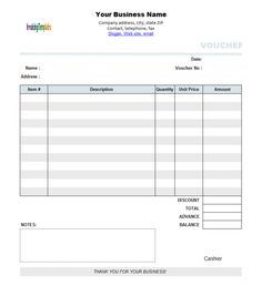 Free Template Receipt Form   Google Search