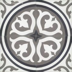 Cement Tile Shop - Encaustic Cement Tile Isla Charcoal