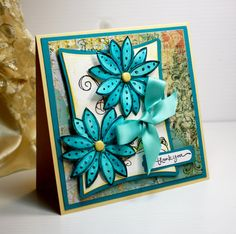 Handmade Card - Greeting Card - Thank You - Stampin Up -  OOAK