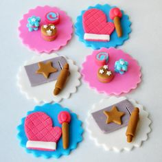 Edible Baking Cupcake Toppers - Theme Baking set perfect for tea parties, Birthday, Summer Parties( 12 pieces)