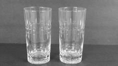 Vintage Tumblers Etched Glass Highball by ClassicGlamourStyle
