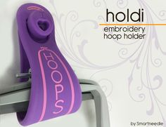 This unique and functional product will hold up to 4 embroidery hoops on your wall, It is easy to use and it will look great in any sewing room and it is made to last (high quality silicone).Easy to mount (hardware included)  ...HOLDI Hoop Holder is a 'must have' notion and it will make great gifts as well!
