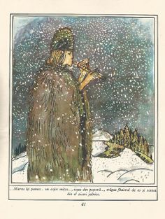 Francisc Kalab - O seara in leaganul Mioritei Winter Illustration, Romania, Illustrators, Fairy Tales, Magic, Fantasy, Popular, Photo And Video, Painting