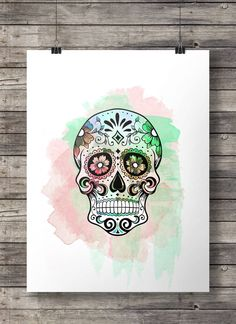 Calavera de azúcar acuarela - Dia di los Muertos calavera mexicana acuarela - arte de la pared para imprimir - Descargar Instant digital imprimir Comprar 2 obtener 1 código de cupón: FREEBIE impresión 16 x 20, excelente imprimir en 8 x 10 y también A3 o A4. HECHO CON AMOR ♥ ____________________________ Imprimir tantas veces como quieras, bien para uso personal y pequeño comercial. -------------------------------------------------------------------------------------- Después de confirmado ...