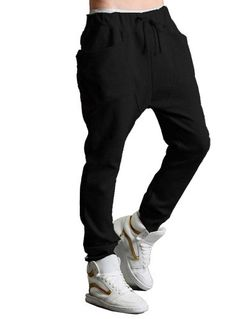 626cbeddc69cd Promithi Women Mens Casual Sports Dance Harem Pants Baggy Jogging Trousers ( M