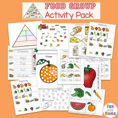 FREE Food Groups Preschool Activities, Chart and food pyramid printables for kindergarten kids Nutrition Education, Nutrition Activities, Kids Nutrition, Health And Nutrition, Complete Nutrition, Vegan Nutrition, Nutrition Guide, Preschool Food, Preschool Lesson Plans