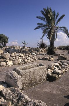 Excavations of the ancient biblical city of Meggido, Israel