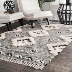 Shop nuLOOM Savannah Moroccan Fringe Textured Wool Area Rug - On Sale - Overstock - 19531800