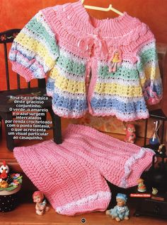 RECIPES OF CROCHET: JACKET AND PANTS IN CROCHE
