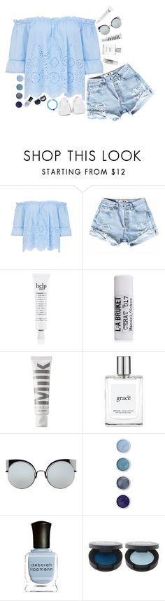 """~i wanna live with you even when we're ghosts~"" by graciegirl2015 ❤ liked on Polyvore featuring philosophy, L:A Bruket, MILK MAKEUP, Fendi, Terre Mère, Deborah Lippmann, FACE Stockholm and adidas"