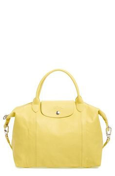 Longchamp Medium  Le Pliage Cuir  Leather Top Handle Tote   Nordstrom a571604ed5