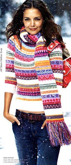 Fair isle stripe wool sweater Product Image | My Style | Pinterest ...