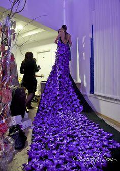 botanical dress with purple vanda orchids Purple Love, All Things Purple, Shades Of Purple, Purple Dress, Purple Stuff, Periwinkle, Lilac, Lavender, Purple Fashion