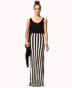 Vertical Striped Maxi Dress | FOREVER21 - 2002246274