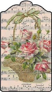 Roses and music - winning combo! printable paper