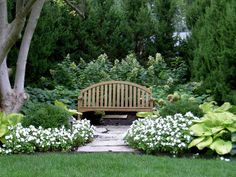 At Rosehill Gardens we offer landscaping services with a personal touch. Call us today at or visit one of our Kansas City garden centers or visit our Landscape Design Gallery page! Garden Nook, Garden Yard Ideas, Garden Cottage, Lawn And Garden, Residential Landscaping, Home Landscaping, Front Yard Landscaping, Formal Garden Design, Garden Landscape Design