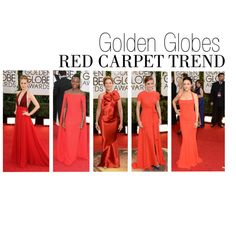 "Celebs in Crimson at the 2014 Golden Globes! ""Red Carpet Trends from the 2014 Golden Globes"" by polyvore-editorial on Polyvore"