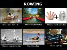I guess even rowers jump on the bandwagon.