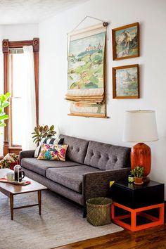 ANTES Y DESPUÉS: De salón anticuado a actual y vintage renovado