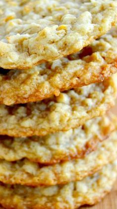 Coconut Ranger Cookies Recipe Chewy, crisp and loaded with delicious toffee and coconut flavors. Feel free to sub in chocolate, butterscotch or even peanut butter chips for an added touch if you'd like! Cookie Desserts, Cookie Bars, Just Desserts, Cookie Recipes, Delicious Desserts, Dessert Recipes, Delicious Chocolate, No Bake Cookies, Yummy Cookies
