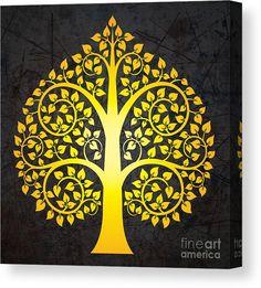 Tree Of Life Artwork, Bodhi Tree, Madhubani Art, Indian Folk Art, Thai Art, Madhubani Painting, Buddha Art, Canvas Art, Canvas Prints