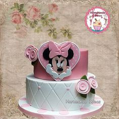Tarta Minnie. Horneando Ideas. www.horneandoideas.com Minnie Mouse, Cake, Desserts, Ideas, Food, Design, Creativity, Meet, Tarts
