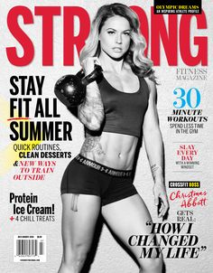 It's Christmas in July on the cover of STRONG! Visit our website to get the full scoop on Christmas Abbott