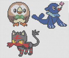 pixel art en perle hama: pokemon nouvelle generation en perles à repasser