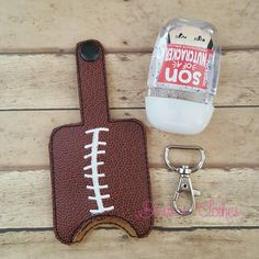 Football Hand Sanitizer Case- Snap in back