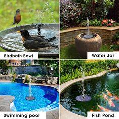 Mini Solar Floating Water Fountain for Garden Pool Pond Decoration FidgetFidget Solar Fountain Pump
