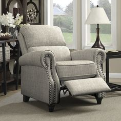 Anna Push Back Recliner,  Seat is 21 inches wide