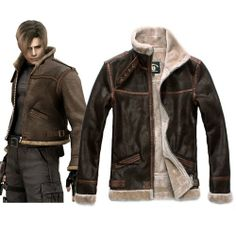 Rulercosplay Resident Evil 4 Leon Scott Kennedy Leather Jacket Cosplay Costumexl