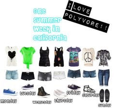"""""""One summer week in California"""" by loustar21 on Polyvore"""