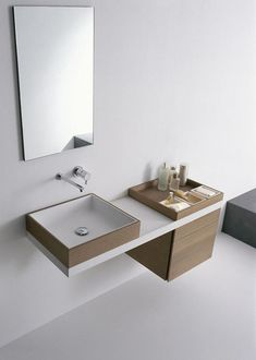 Basin fittings - worth knowing and practical tips wash basin taps modern bathroom furnishings wash basin tap wall mirrorDornbracht at the international bathroom fair taps # Modern Bathroom Decor, Bathroom Styling, Bathroom Interior Design, Bathroom Furniture, Bathroom Basin, Small Bathroom, Nature Bathroom, Ocean Bathroom, Bathroom Niche