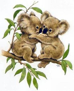 Discover recipes, home ideas, style inspiration and other ideas to try. Cute Animal Illustration, Cute Animal Drawings, Animal Sketches, Cute Drawings, Animals And Pets, Baby Animals, Cute Animals, Koala Tattoo, Baby Koala