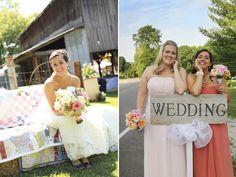 Farm wedding : Peach, pinks, coral